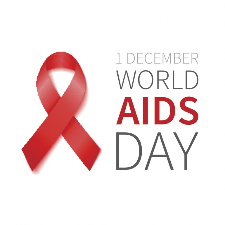 World Aids Day illustration with red ribbon of aids awareness. Vector red ribbon.